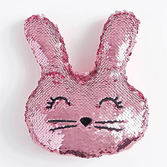 sequin-bunny pillow