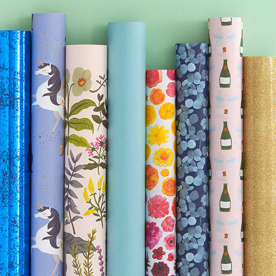 beautiful wrapping paper rolls