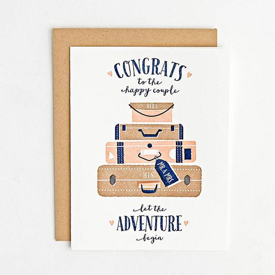 adventure wedding card
