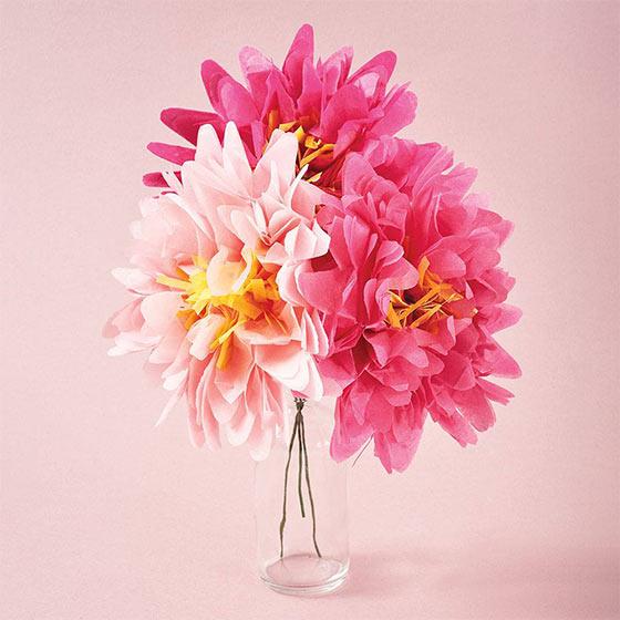 paper flower diy set