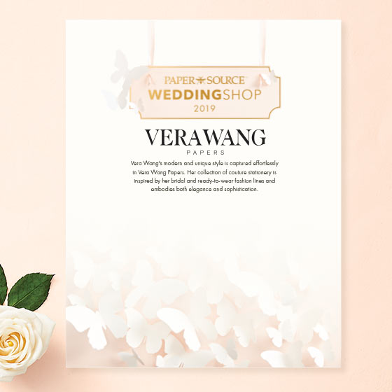 elegant wedding invitations by vera wang