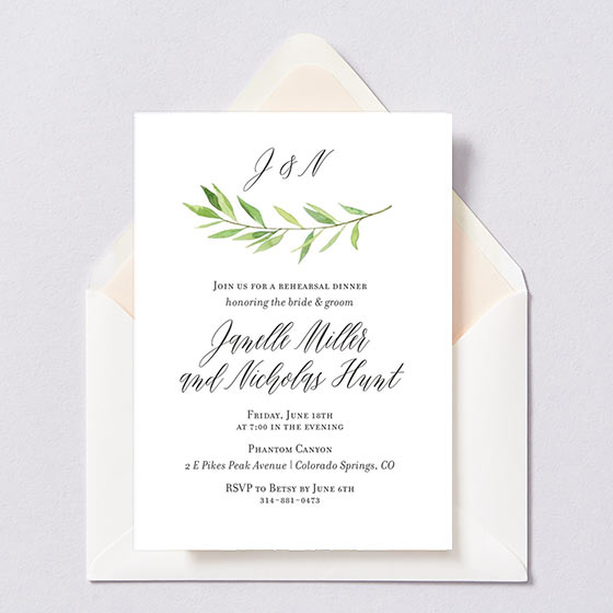 Wedding Rehearsal Dinner Invitations