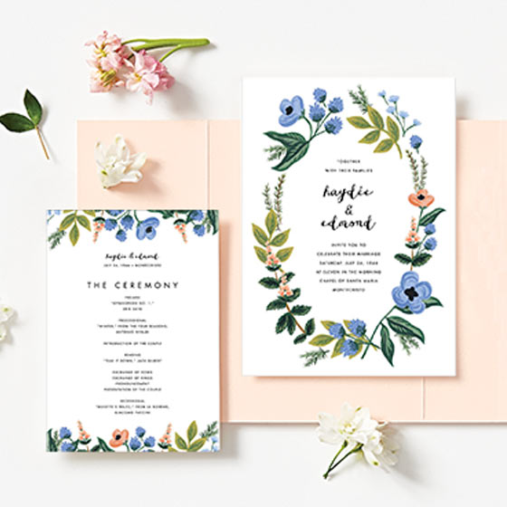 floral wedding invitations by rifle paper co.