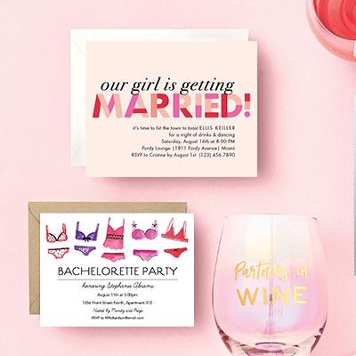 bikini bachelorette party invite