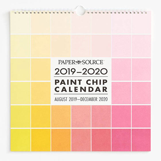 colorful paint chip calendar