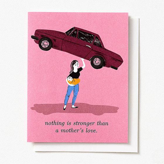 inspiring mom card balancing car and baby