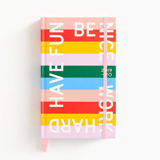 colorful stripes be nice 2020 planner