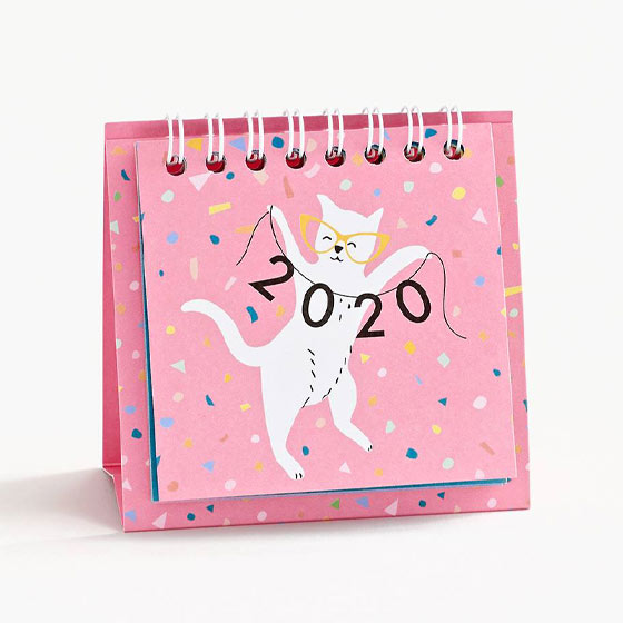 cute mini cats desk calendar