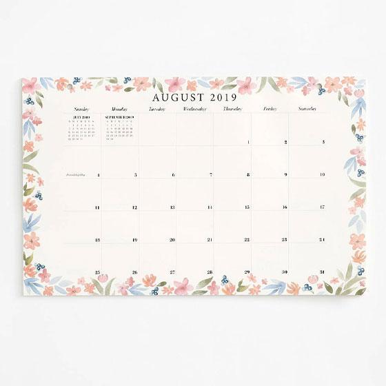 botanical blotter calendar