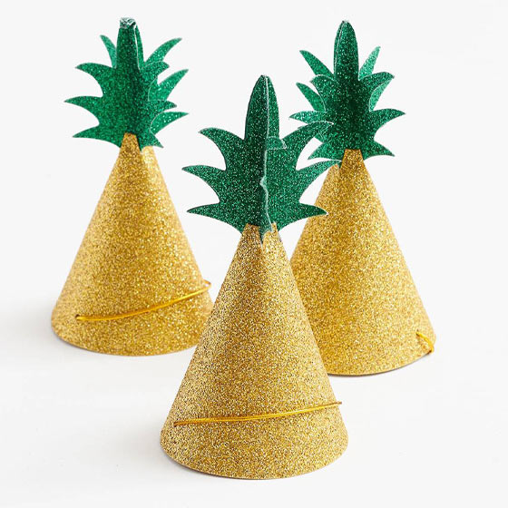 cute pineapple party hats