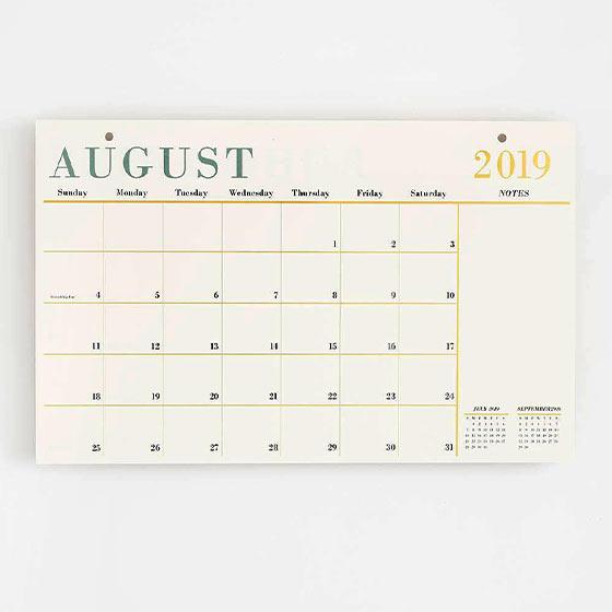 foil 17-month calendar