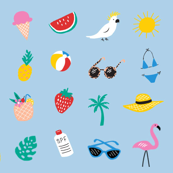 summer themed items