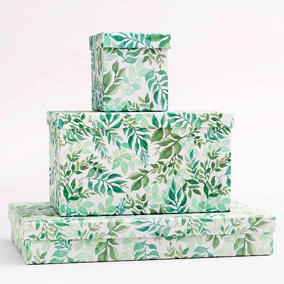 watercolor garden gift boxes