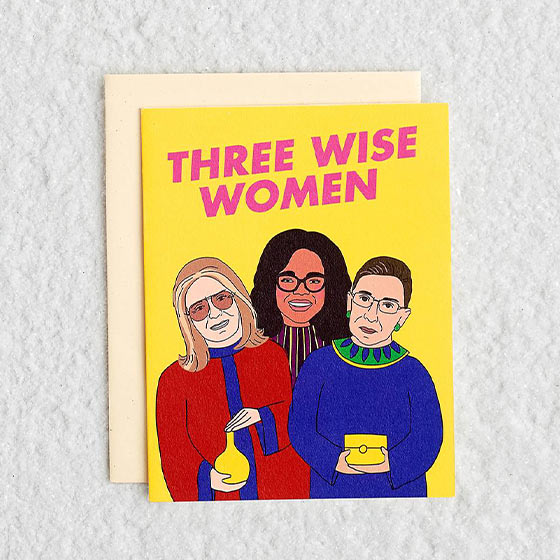 three wise women greeting card