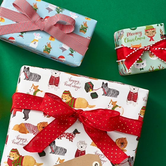 Flat Sheets of Christmas Wrapping Paper