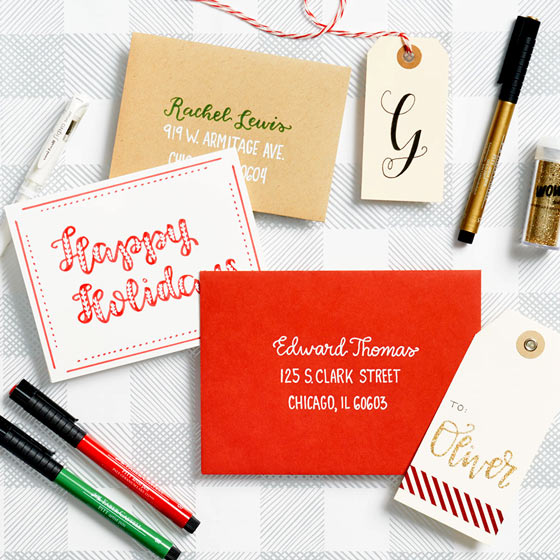 Holiday Hand Lettering Virtual Workshop