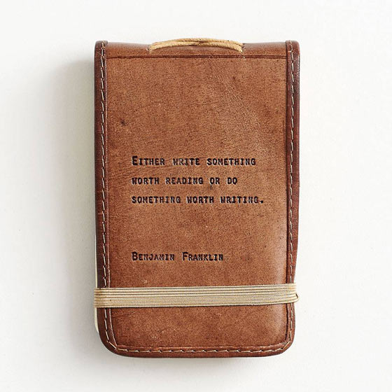 Leather Quote Notepad