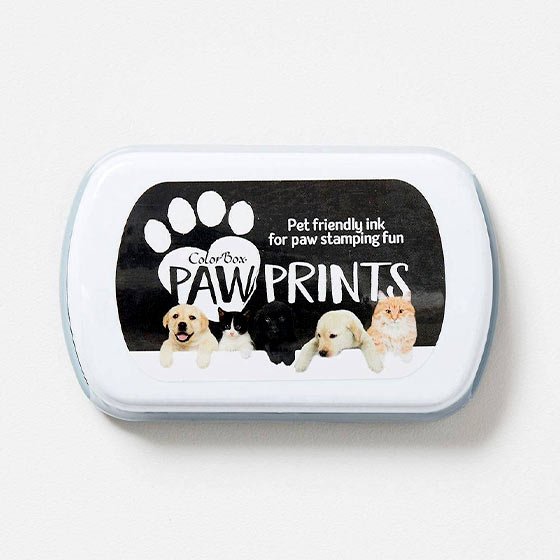 paw prints stamp pad