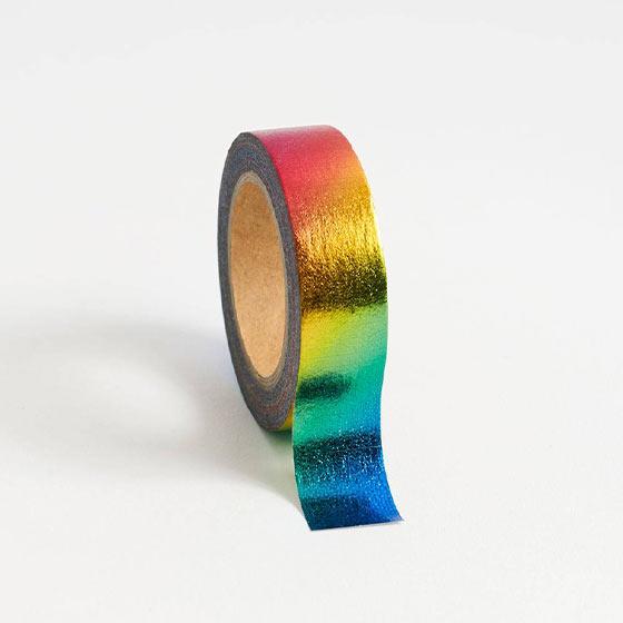 rainbow foil washi tape