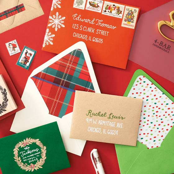 Paper Bar Holiday Themed Envelopes