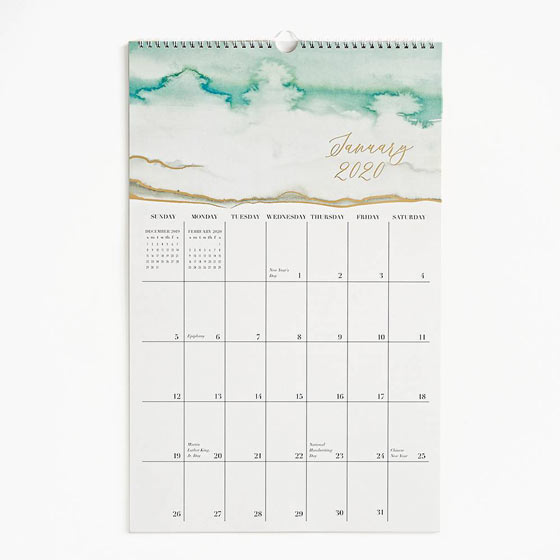 large calendars