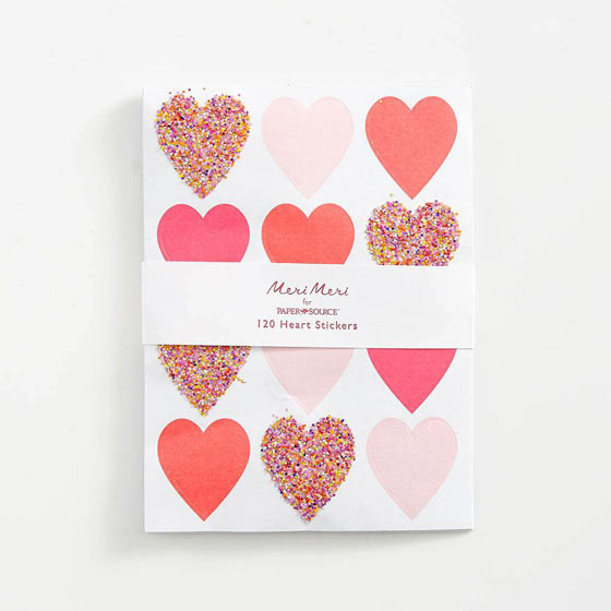 Valentine's Day Heart Stickers