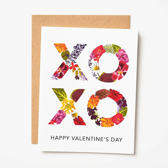 XOXO Happy Valentine's Day Greeting Card