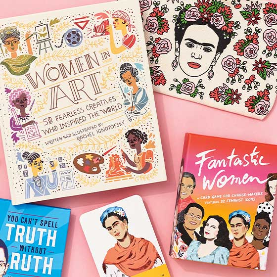 An array of empowering products for women