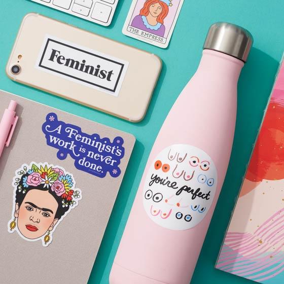 Feminist Statement Stickers