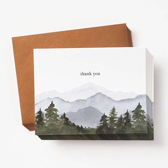 Mountainscape Thank You Notes