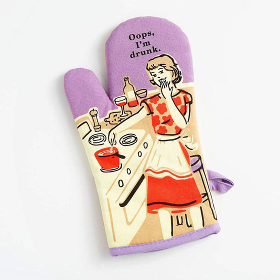 Oops I am drunk Oven Mitt
