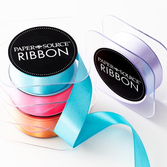 Paper Source Assorted Satin Ribbon.