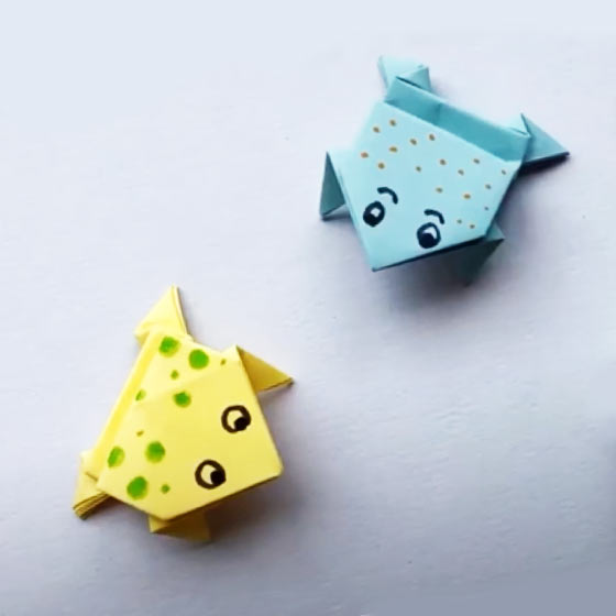 Make an Origami Leap Frog