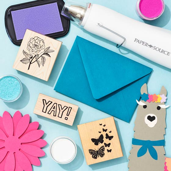 rubber stamps on envelopes