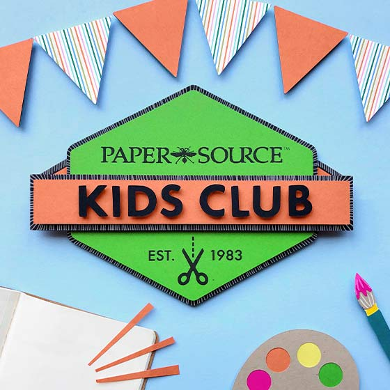 Paper Source Kids Club Logo.