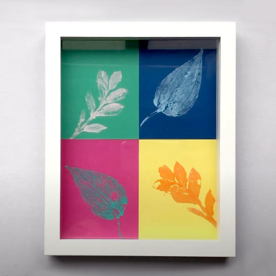 Leaf Art Print Video