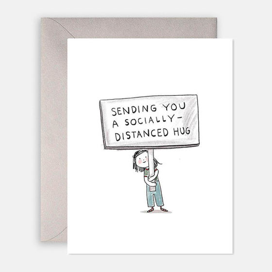 Sending a Socially Distanced Hug Card