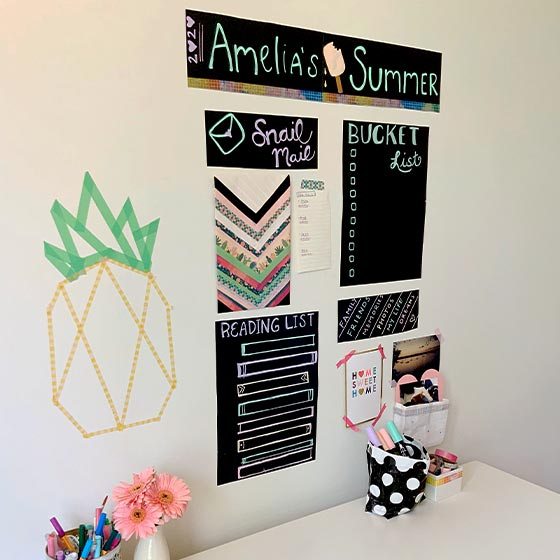 Chalkboard Vision Board Project Video