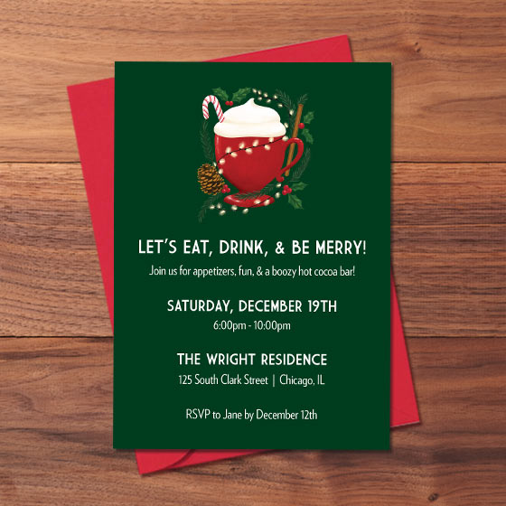 Custom Holiday Invites
