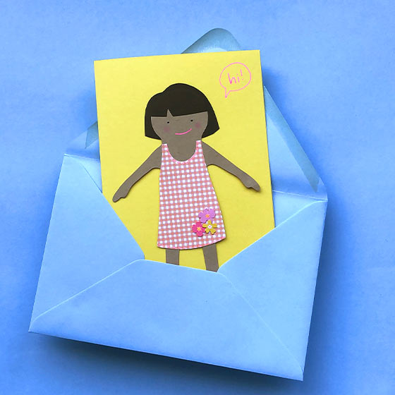 Paper Doll Note Card Project Video