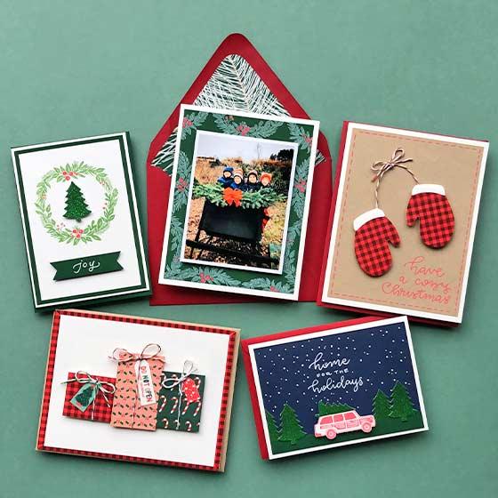 Classic Christmas DIY Card Ideas Video