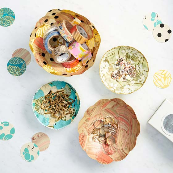 Beautiful and creative handmade paper bowls.