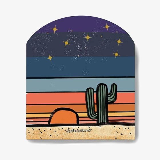 Desert Globe Vinyl Sticker