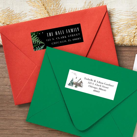Assorted Customizable Holiday Themed Labels