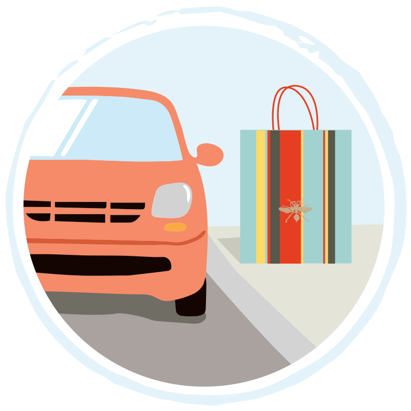Paper Source Curbside Pickup Icon