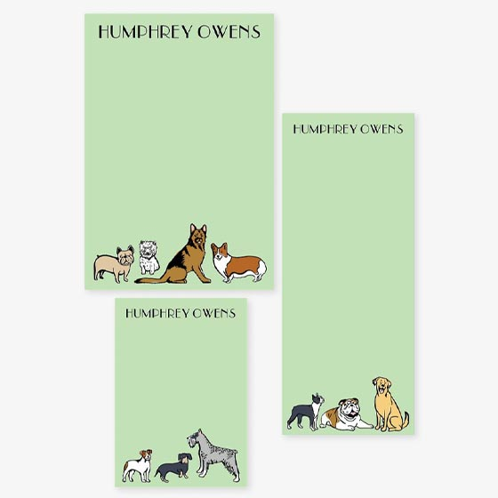 Dog Designs on Custom Notepads