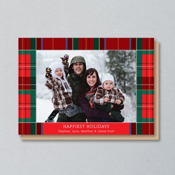 Custom Photo Card that with Tartan Plaid design
