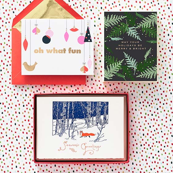 An Array of Holiday Stationery and Envelopes