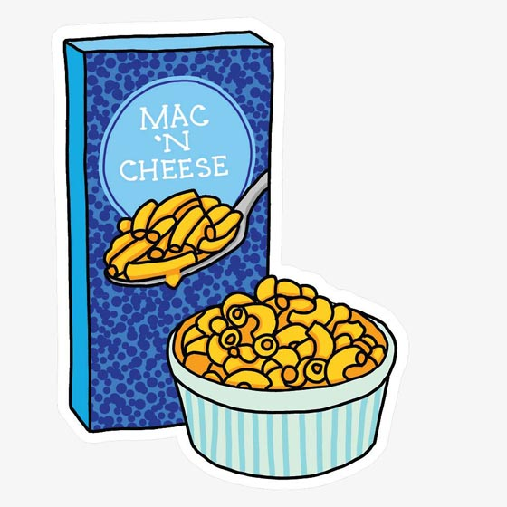Mac and Cheese Single Sticker