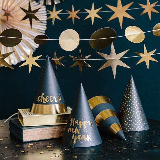 Festive New Year's Party Hats